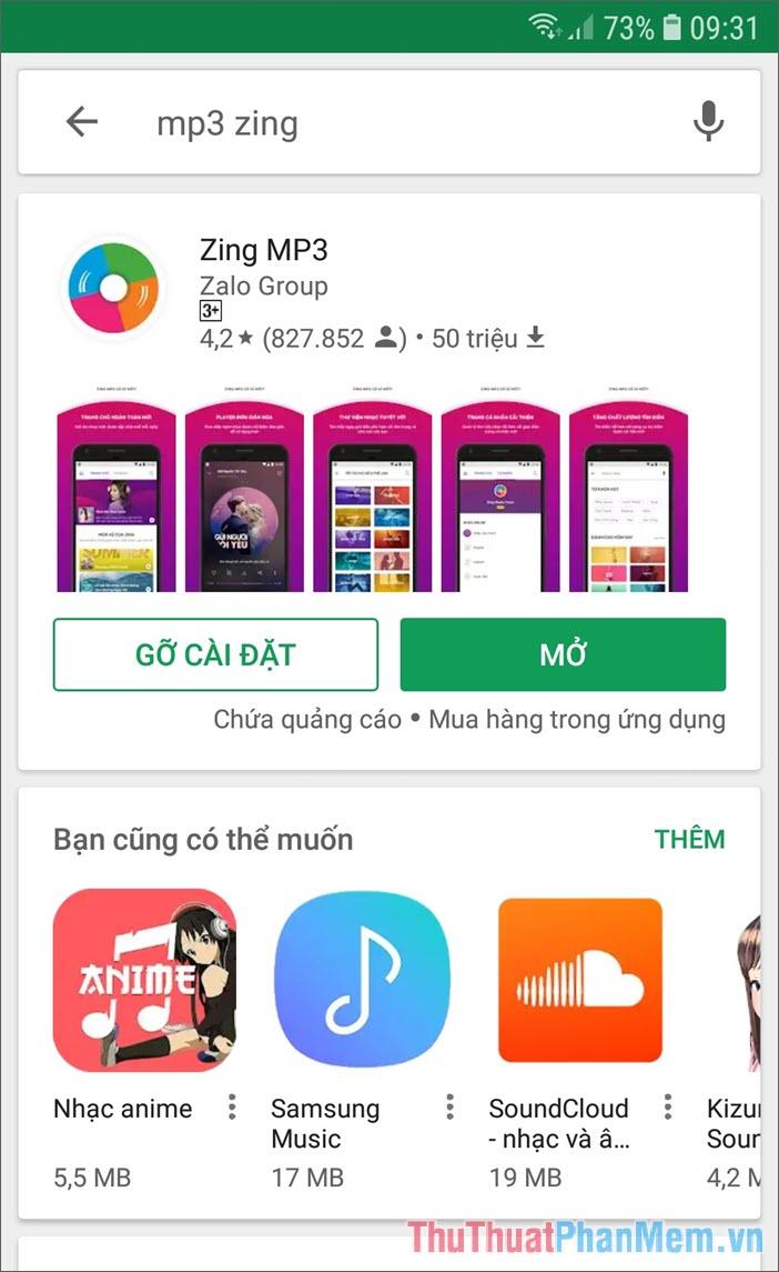 Tải ứng dụng Zing Mp3 về điện thoại