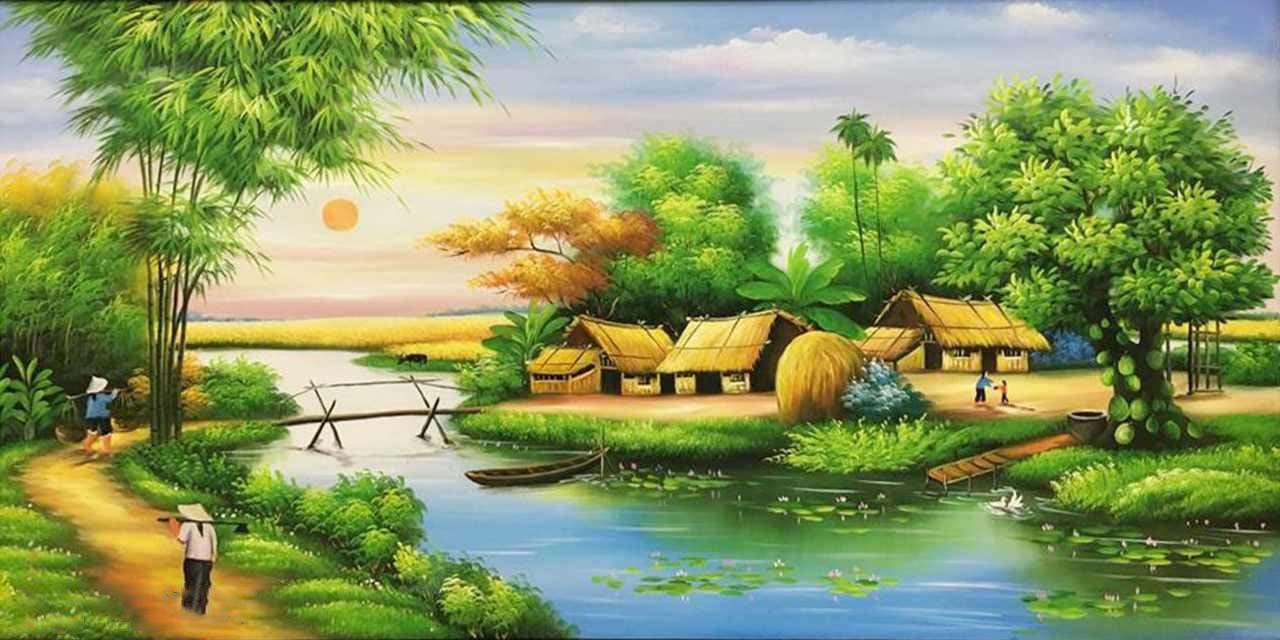 Bức tranh phong cảnh quê hương đất nước đẹp nhất