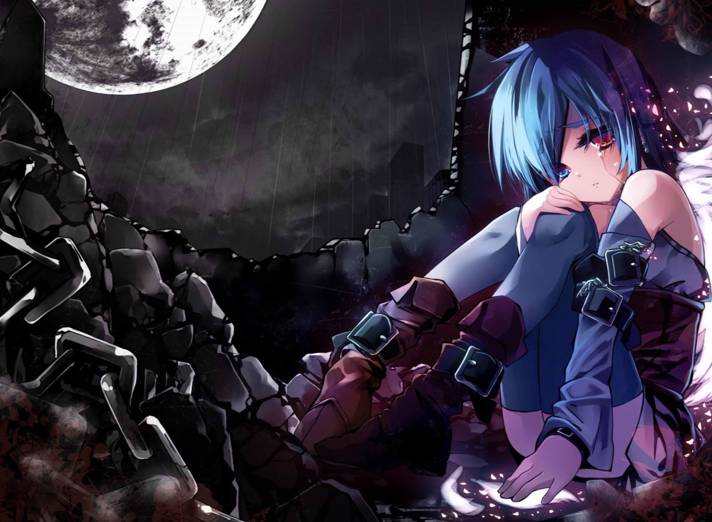 Hình ảnh anime buồn cô đơn