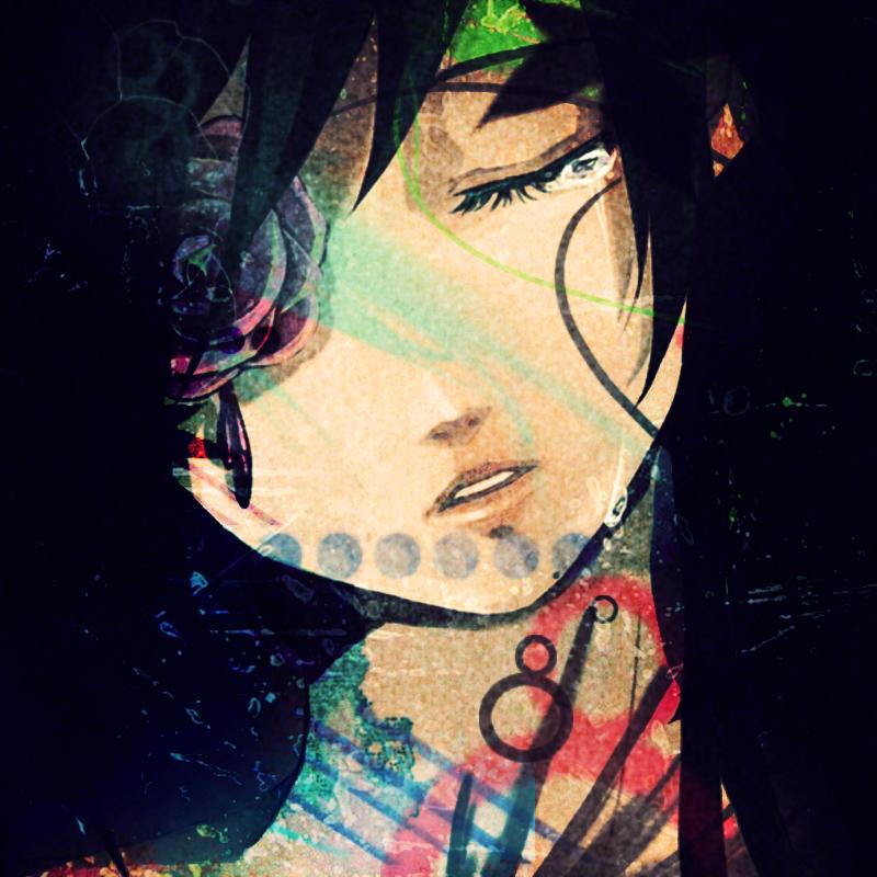 Hình ảnh anime buồn đen trắng