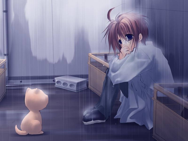 Hình ảnh anime buồn phong cảnh