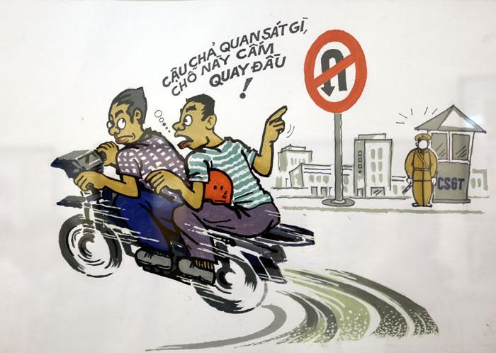 Bức tranh về đề tài an toàn giao thông