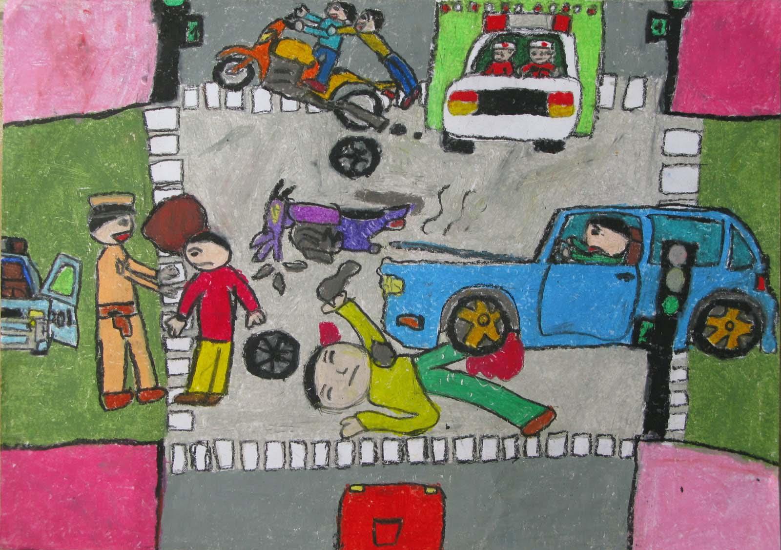 Những bức tranh về an toàn giao thông