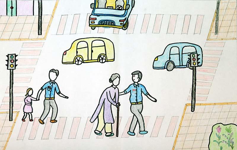 Tranh ảnh đề tài an toàn giao thông