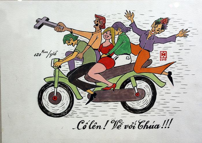 Tranh biếm họa đề tài an toàn giao thông