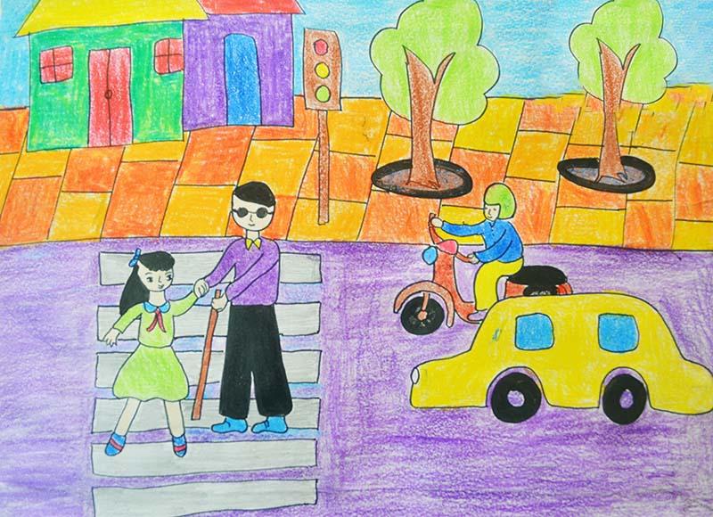 Tranh vẽ an toàn giao thông hay nhất