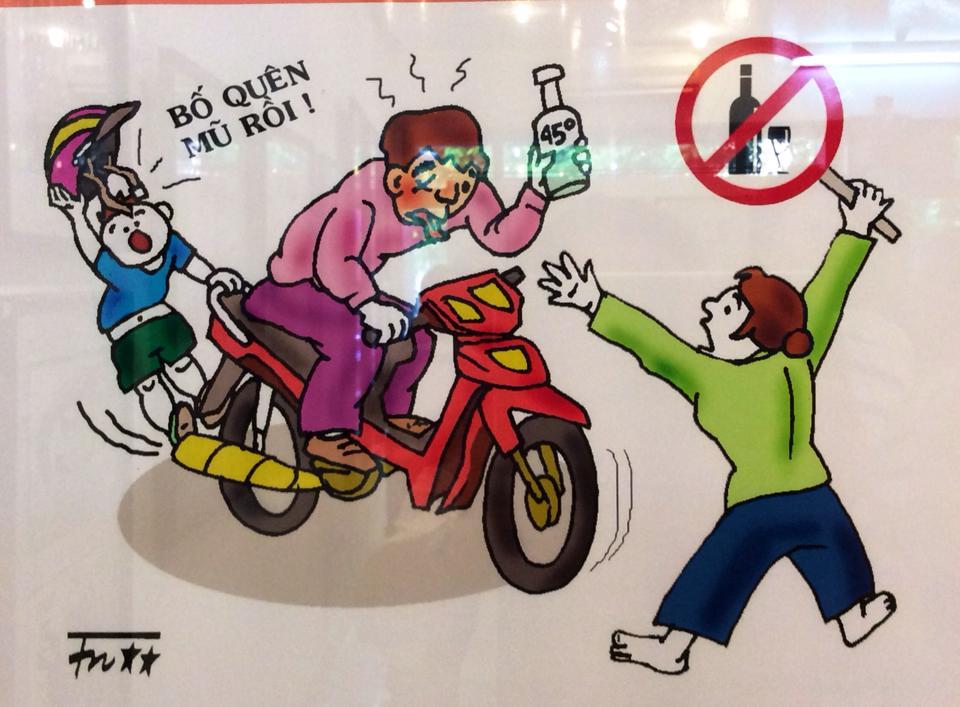 Tranh vẽ đề tài an toàn giao thông hay