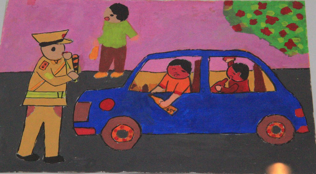 Tranh vẽ về an toàn giao thông hay
