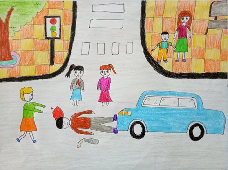Tranh vẽ về an toàn giao thông ý nghĩa