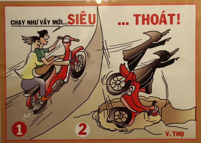 Tranh vẽ về an toàn giao thông