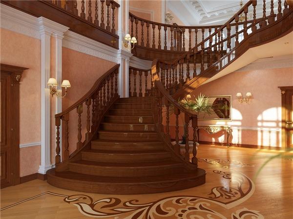 Những mẫu cầu thang gỗ cực đẹp