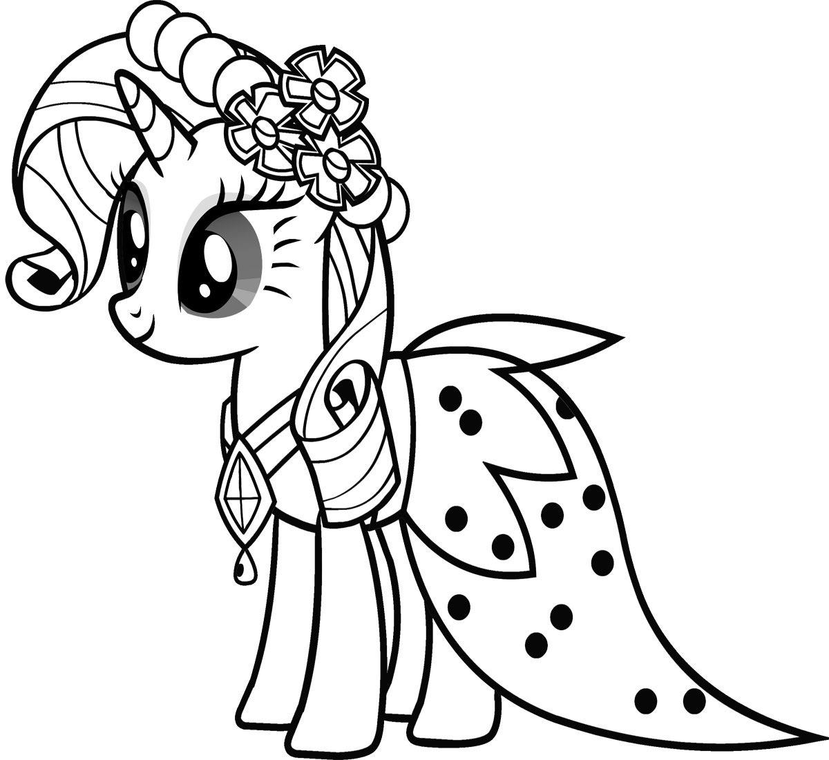 Bé tập tô màu ngựa Pony