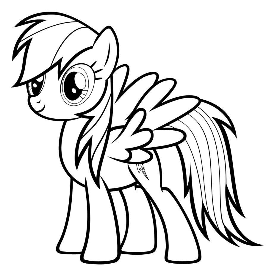 Tranh t m u ng a Pony