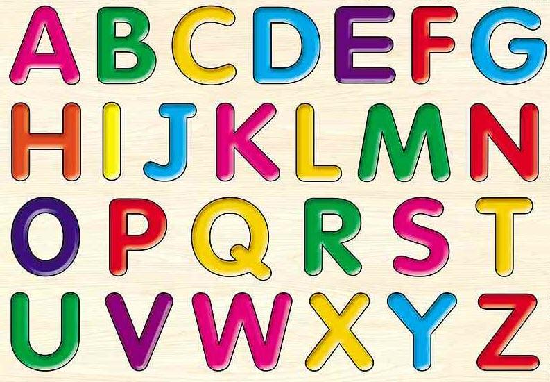 Hình 24 chữ cái tiếng Anh