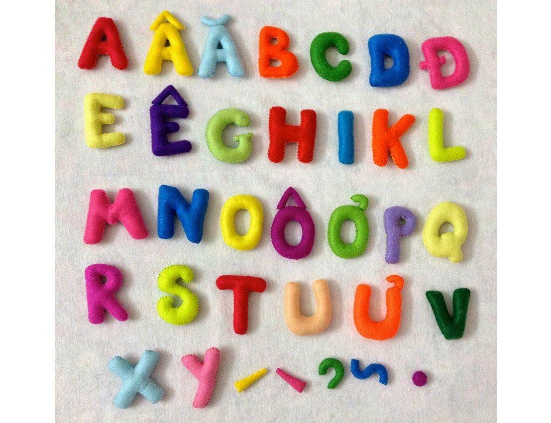 Hình ảnh bảng chữ cái đáng yêu cho bé