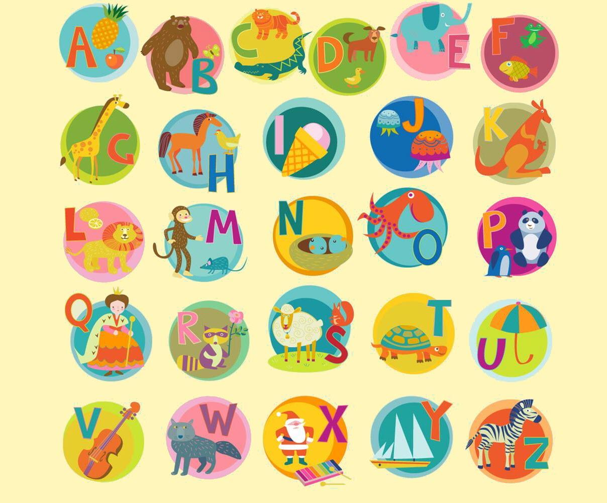 Hình ảnh bảng chữ cái tiếng Anh đáng yêu cho bé