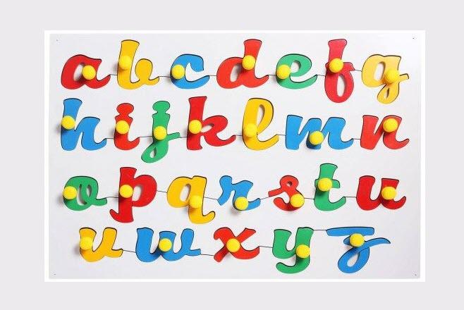 Hình ảnh bảng chữ cái Tiếng Anh in thường