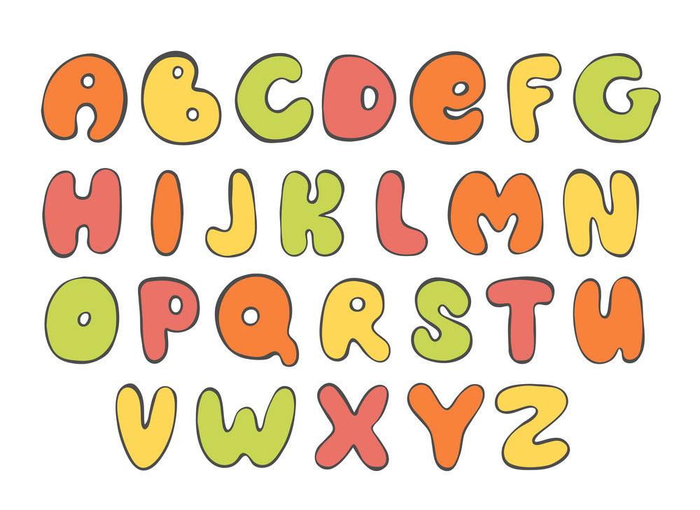 Hình ảnh bảng chữ cái tiếng Anh nhiều màu sắc