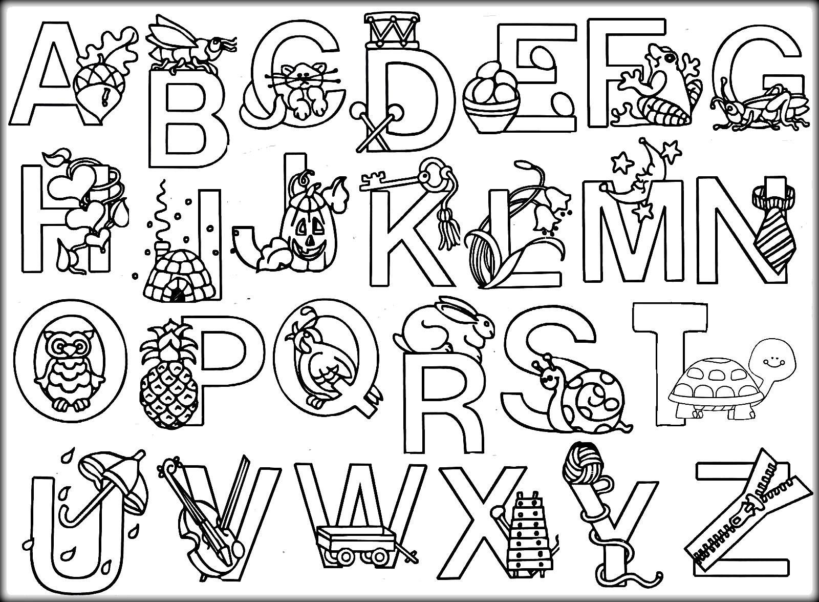 Hình ảnh bảng chữ cái tiếng Anh tô màu