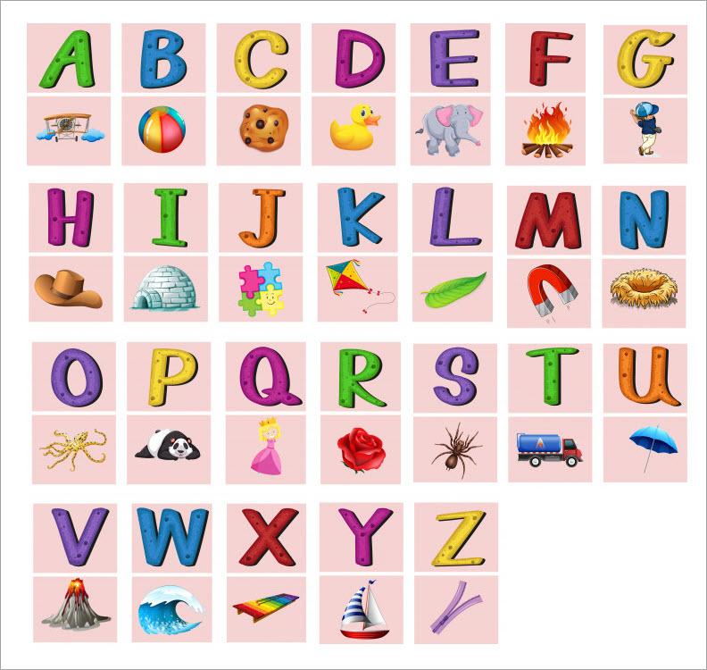 Hình ảnh bảng chữ cái tiếng Anh từ A- Z