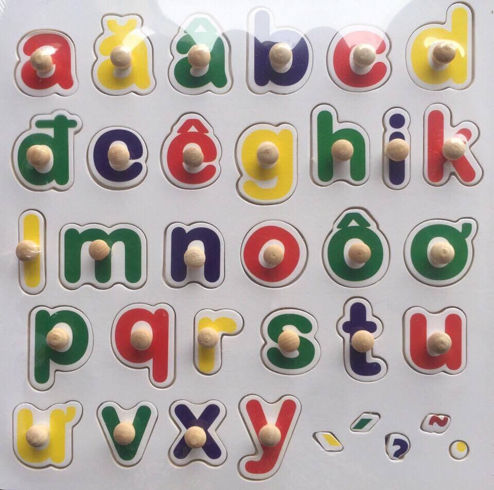 Hình bảng chữ cái in thường cho bé