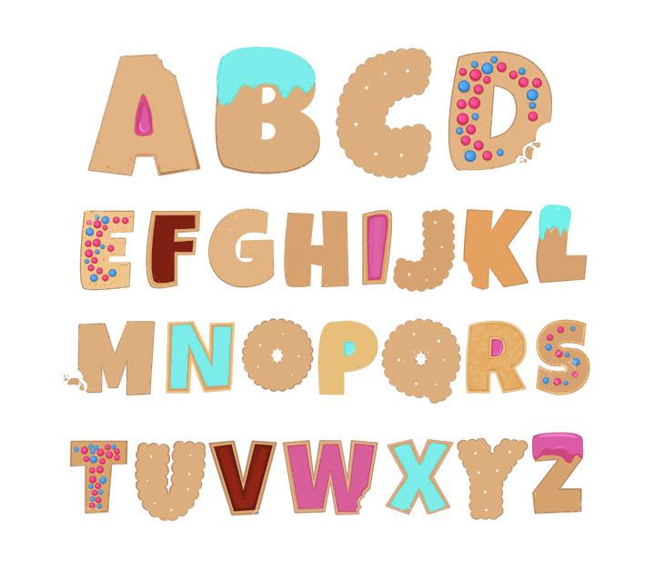 Hình bảng chữ cái tiếng Anh đơn giản