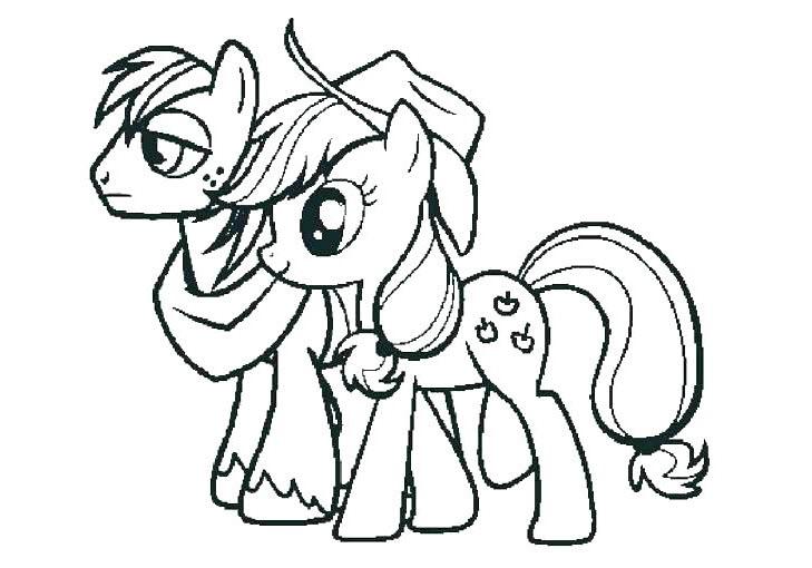Hình ngựa Pony cho bé tập tô màu