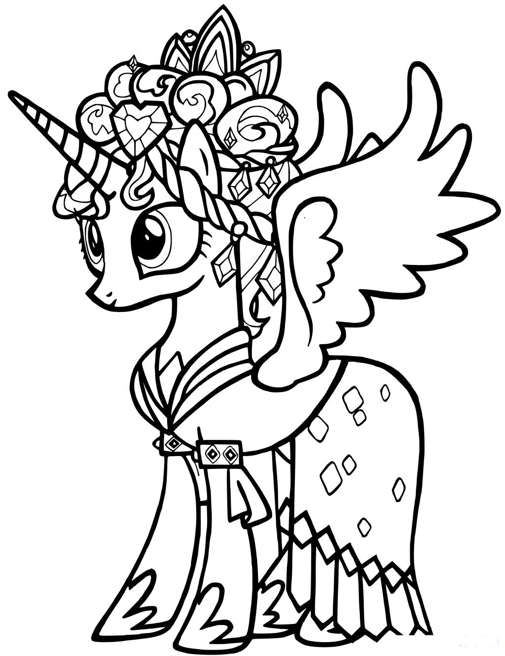Hình ngựa Pony tô màu