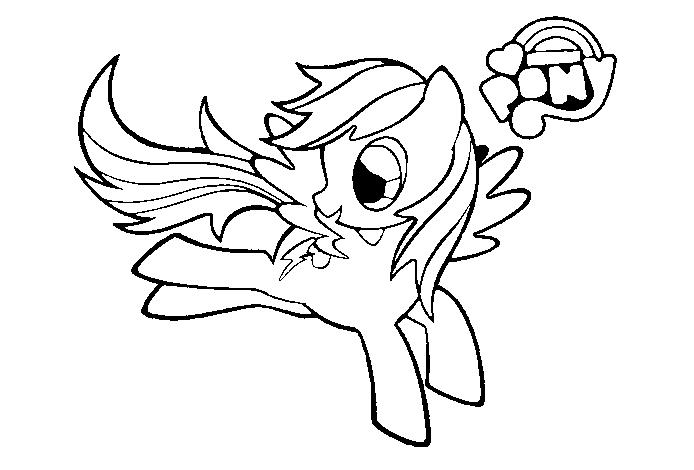 Hình Pony cho bé tập tô