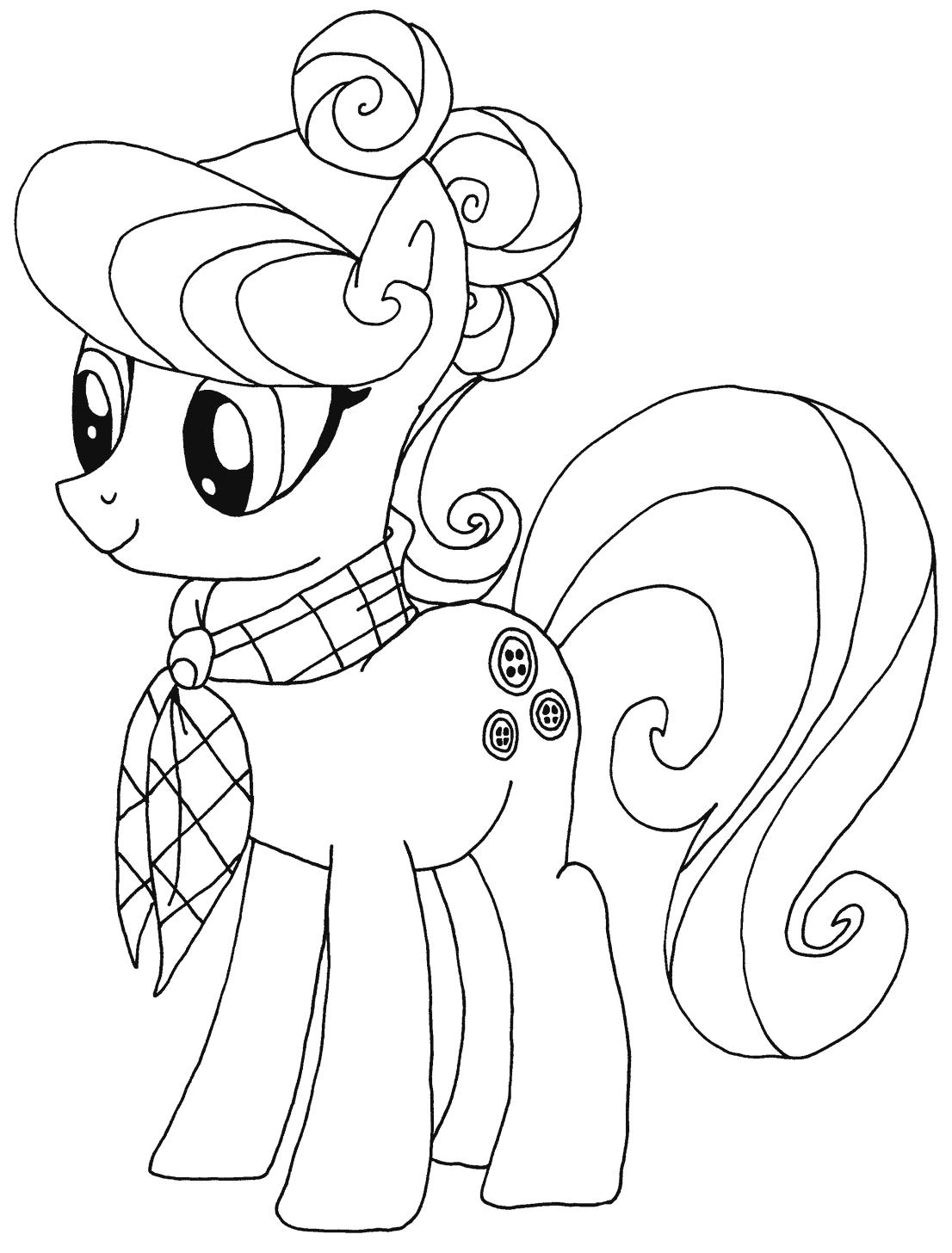 Hình tập tô màu Pony cho bé