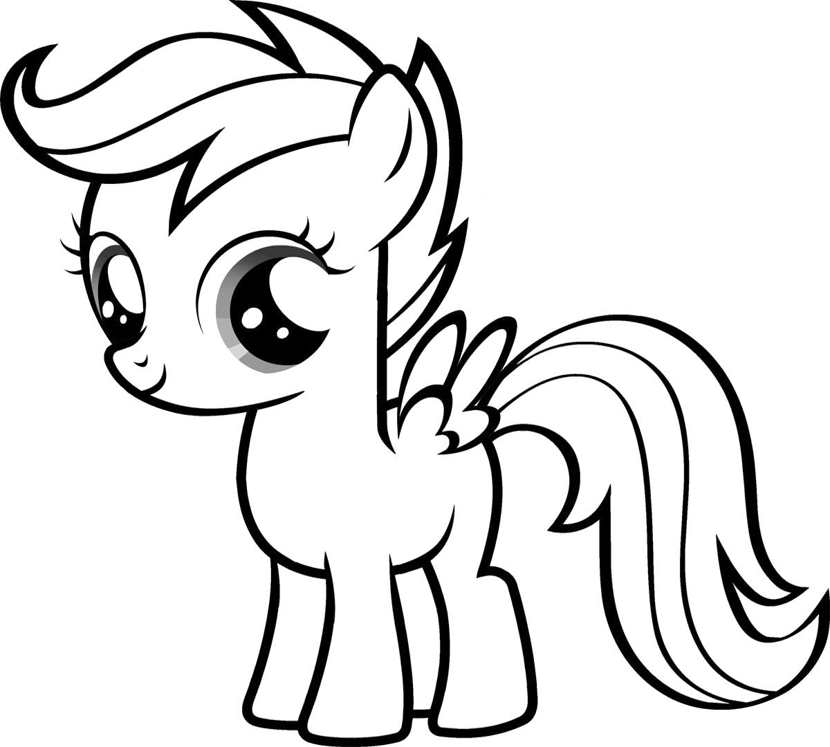 Hình tập tô ngựa Pony cho bé