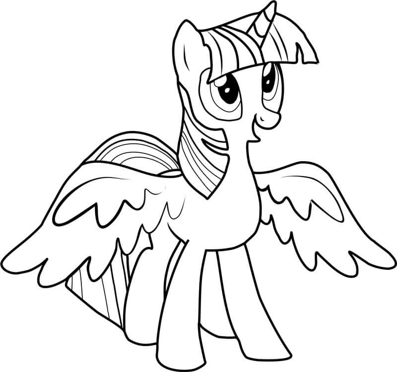 Hình tập tô ngựa Pony đáng yêu