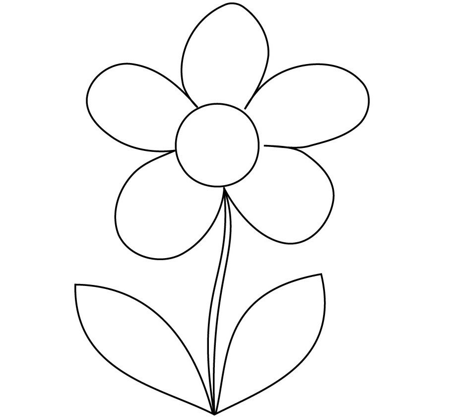 Hình tô màu bông hoa cho bé 3 tuổi