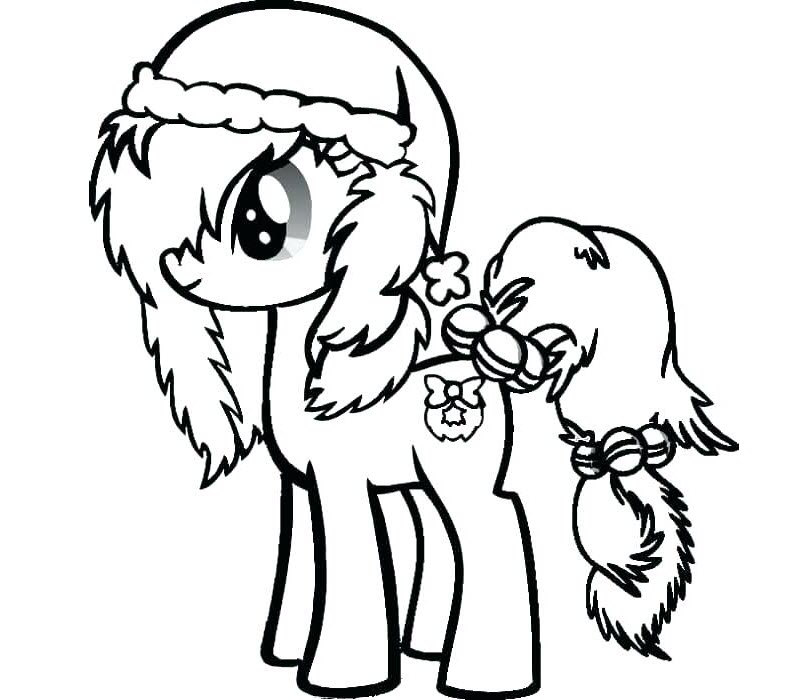 Hình tô màu chú ngựa Pony đáng yêu