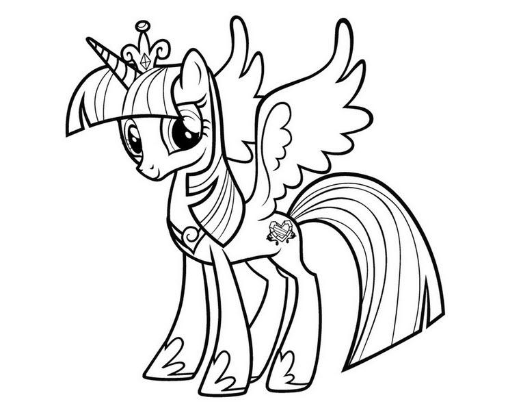 Hình tô màu chú ngựa Pony dễ thương nhất
