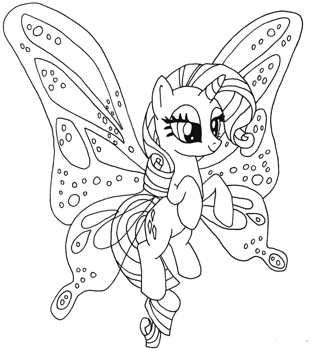 Hình tô màu chú ngựa Pony dễ thương