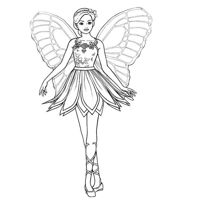 Hình tô màu công chúa dễ thương