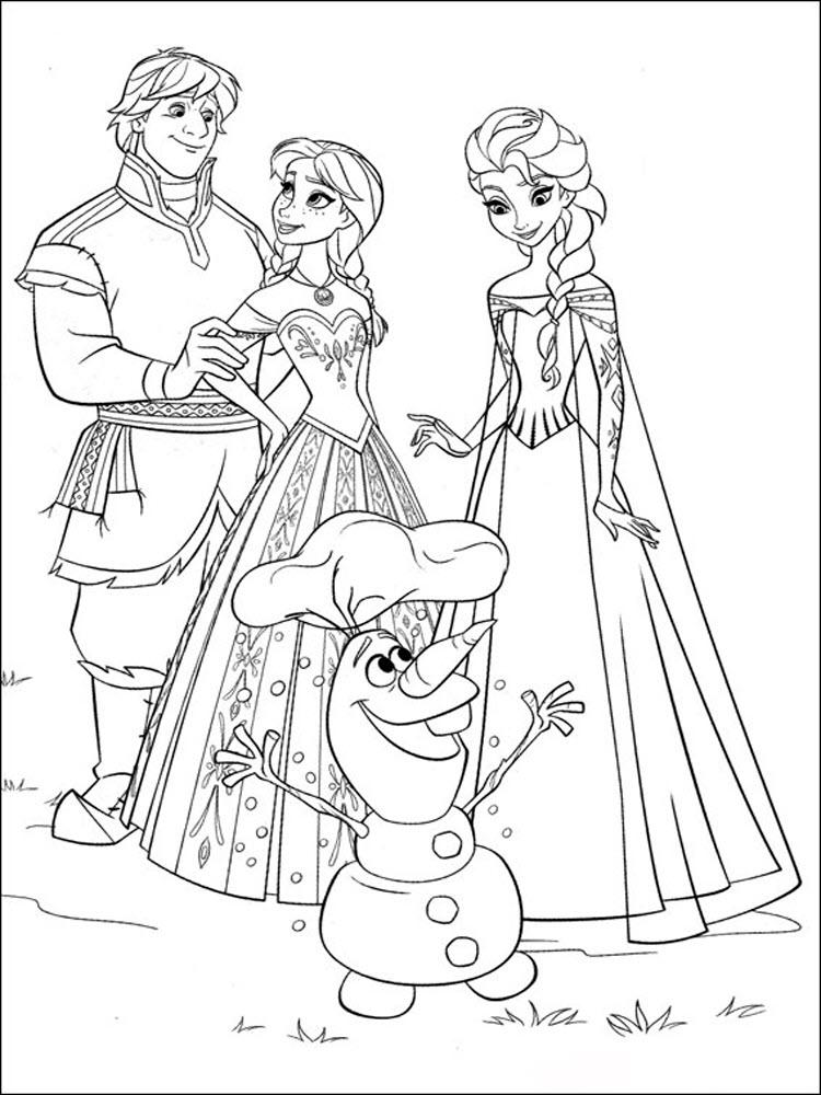 Hình tô màu công chúa đẹp