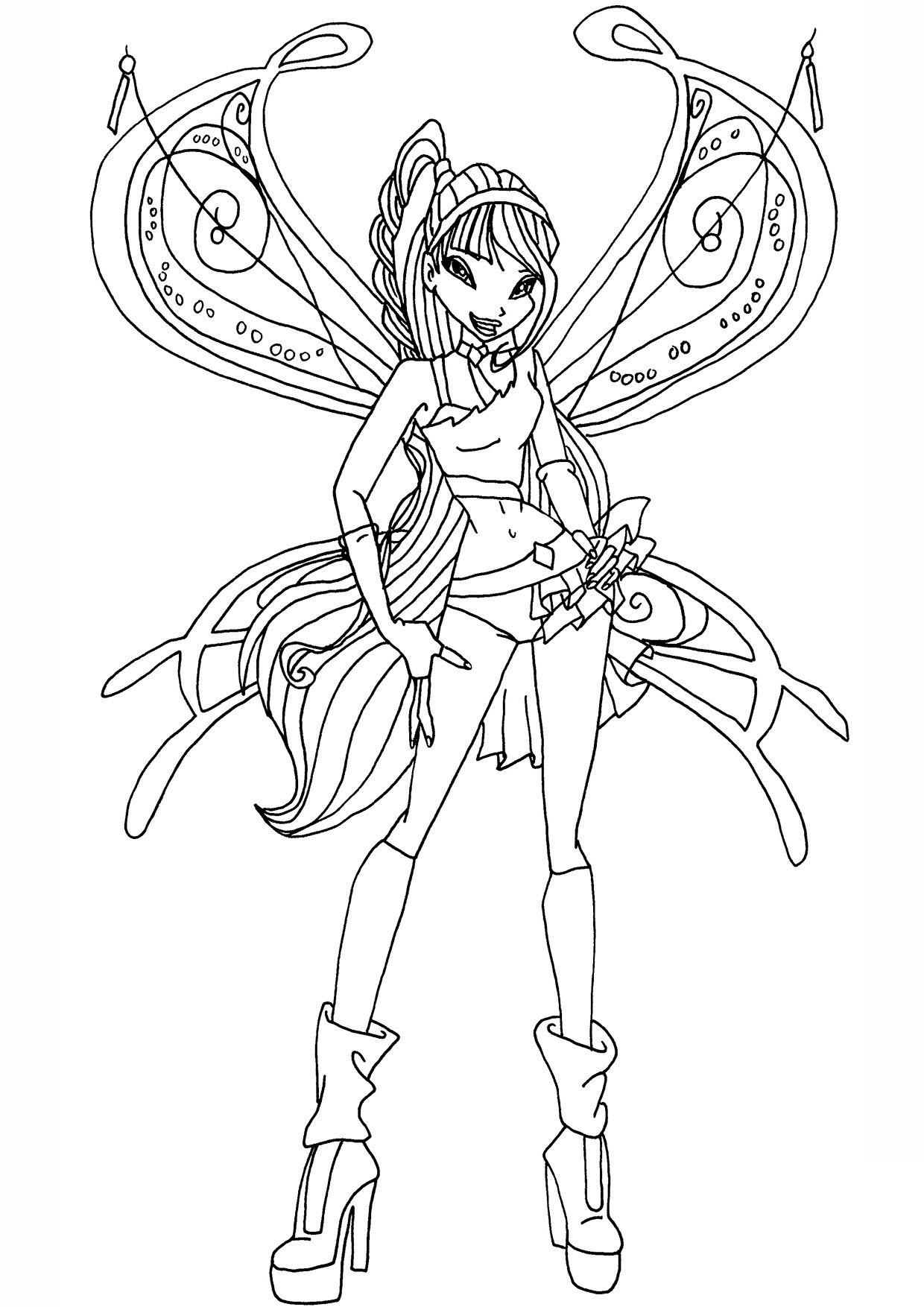 Hình tô màu công chúa phép thuật winx