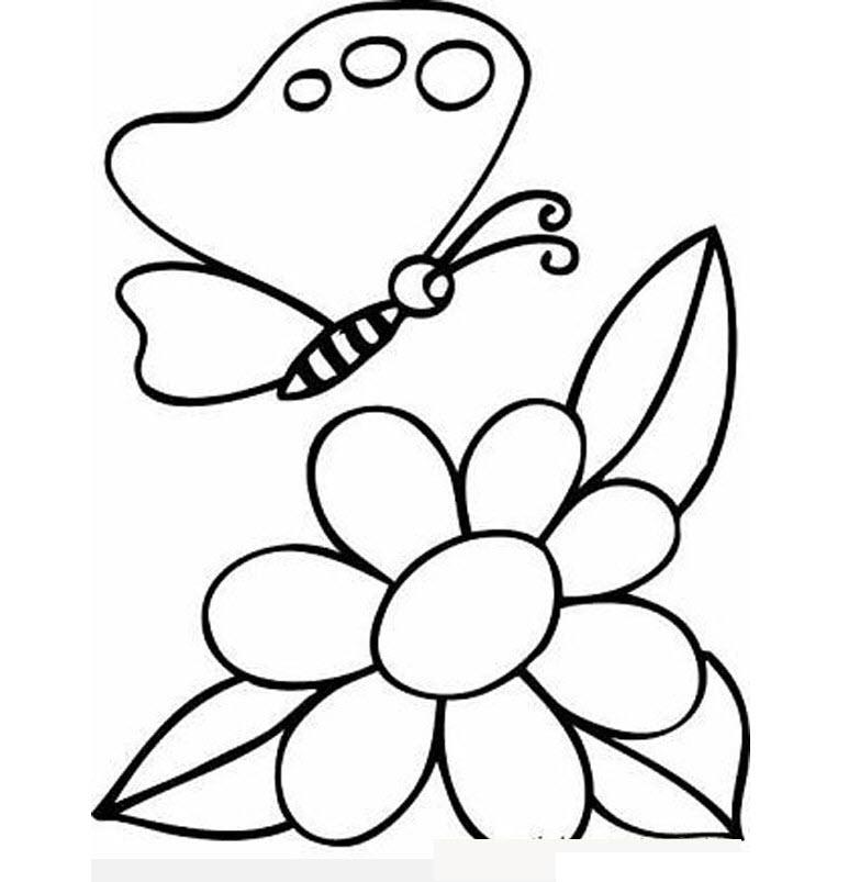 Hình tô màu hoa