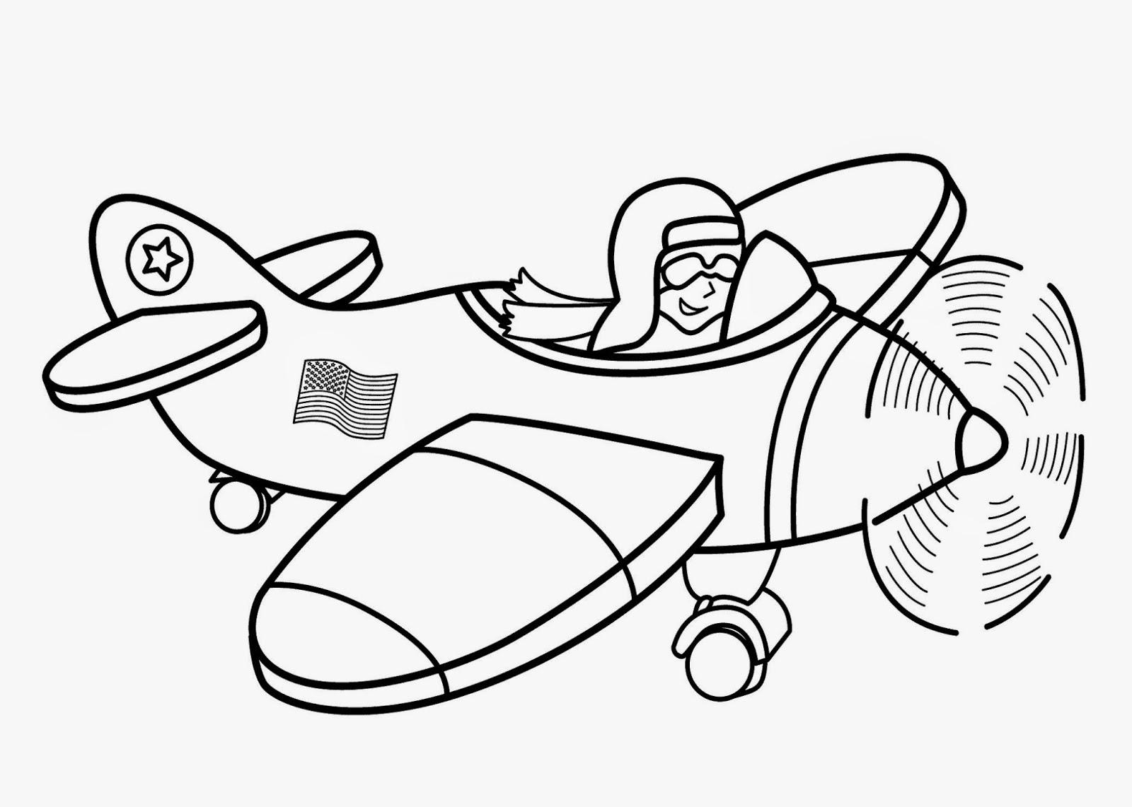 Hình tô màu máy bay đẹp