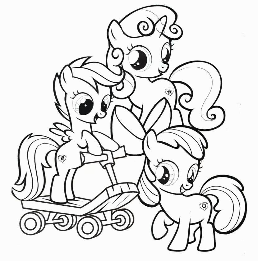 Hình tô màu ngựa Pony cho bé 5 tuổi