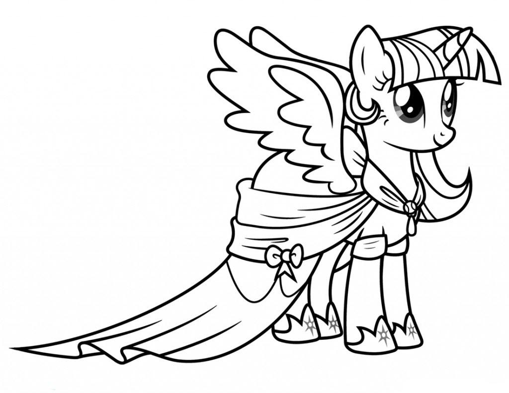 Hình tô màu ngựa Pony cho bé