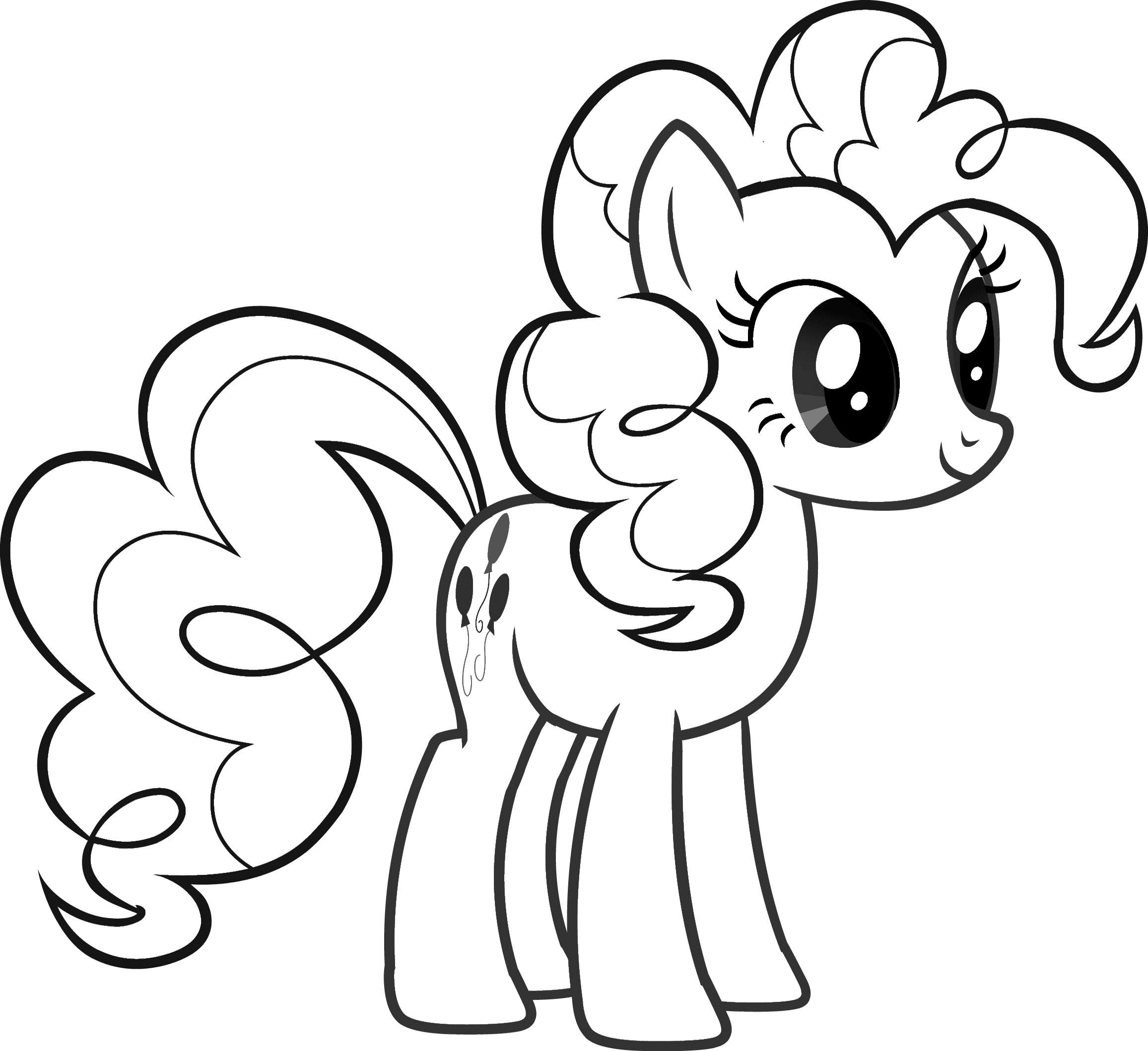 Hình tô màu ngựa Pony