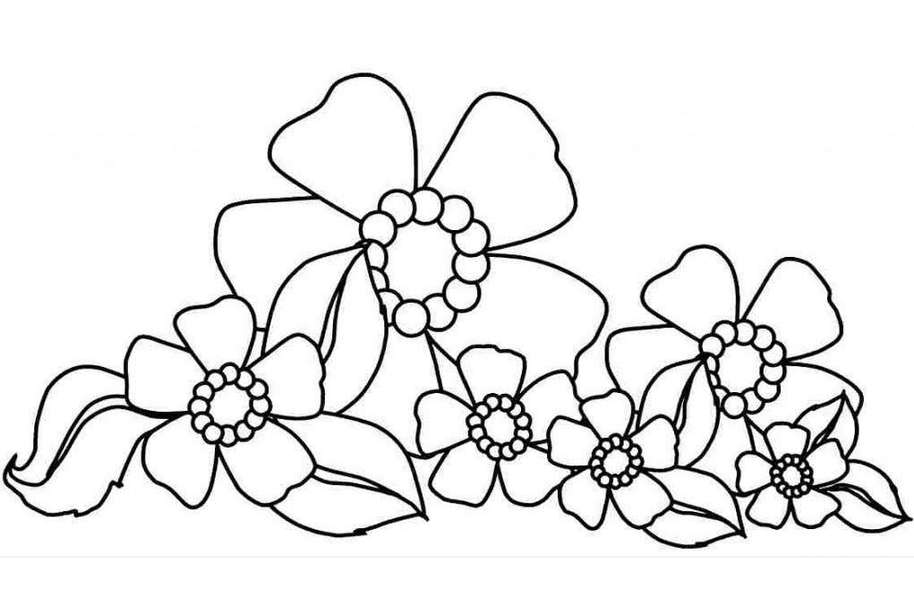 Hình tô màu những bông hoa đẹp cho bé gái