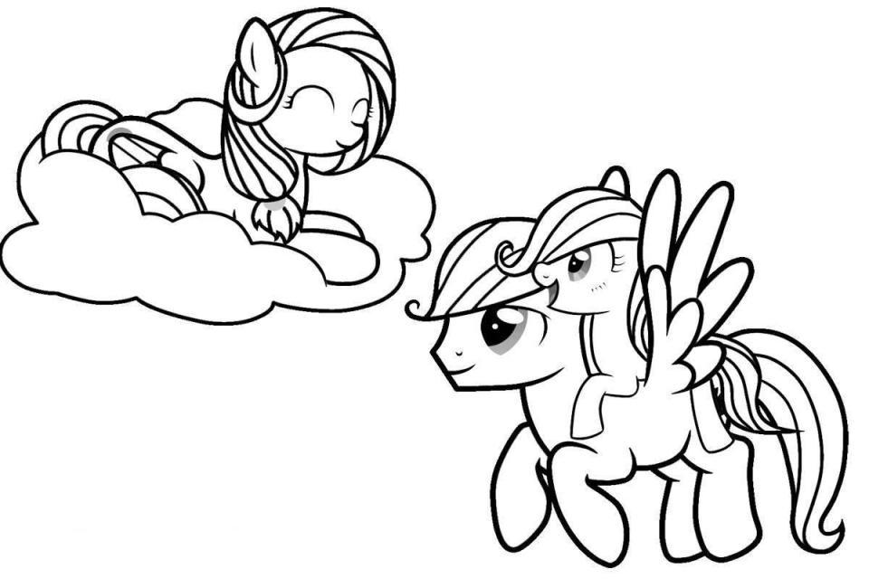 Hình tô màu Pony cho bé