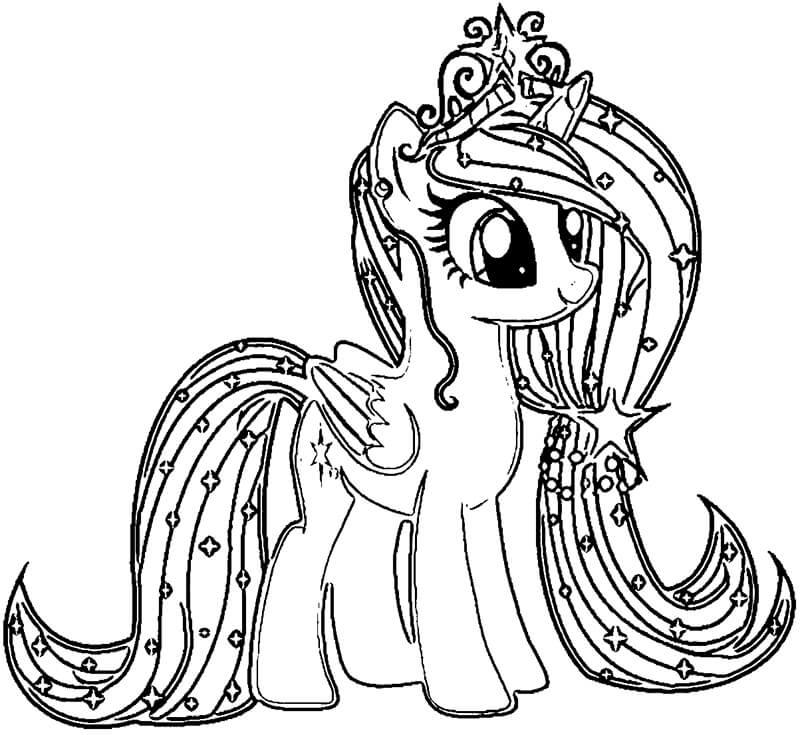 Hình tô màu Pony cho các bé