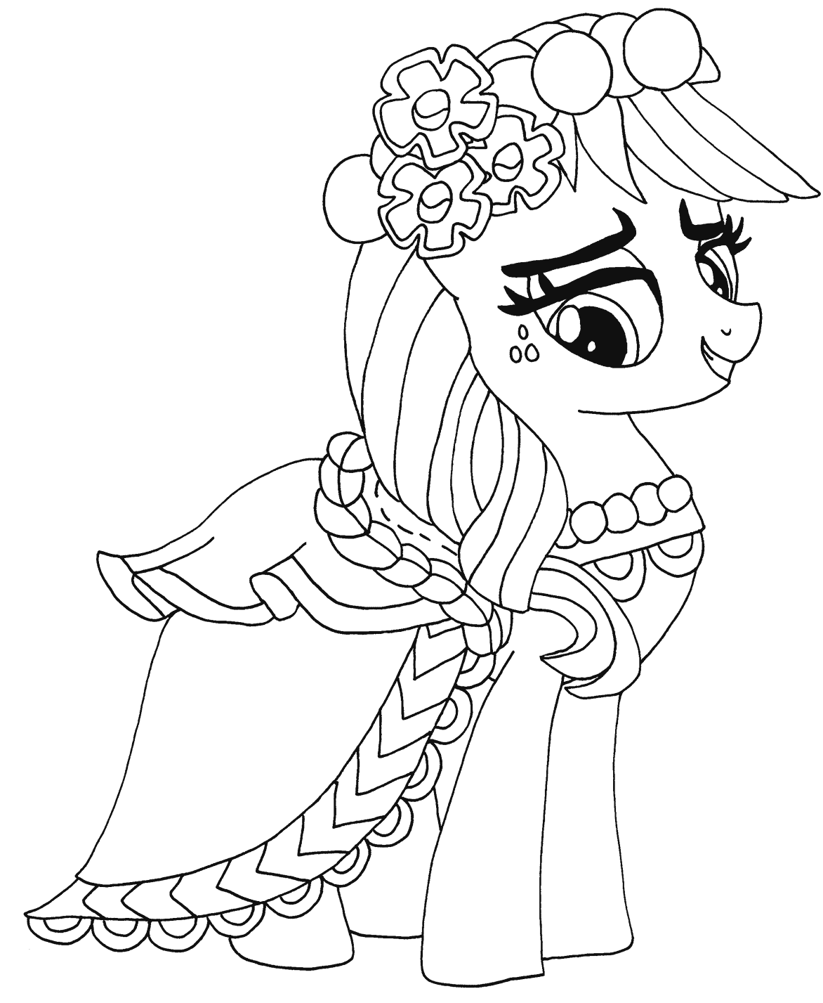 Hình tô màu Pony dễ thương