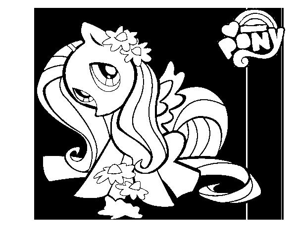 Hình tô màu Pony