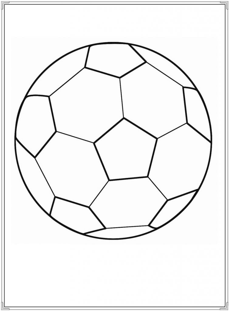 Hình tô màu quả bóng